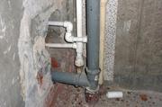 замена чугунного канализационного тройника