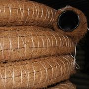 Труба дренажная ПЭНД-110 в фильтре из кокос. волокна (бухта 50 м.)
