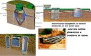Установка септика из бетонных колец для постоянного проживания 3-4 чел